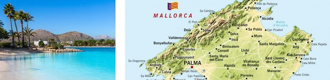 alcudia sehenswürdigkeiten, karte, strand, hotel, flughafentransfer, mallorca